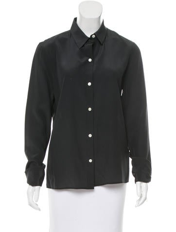 Rag & Bone Silk Button-Up Top None