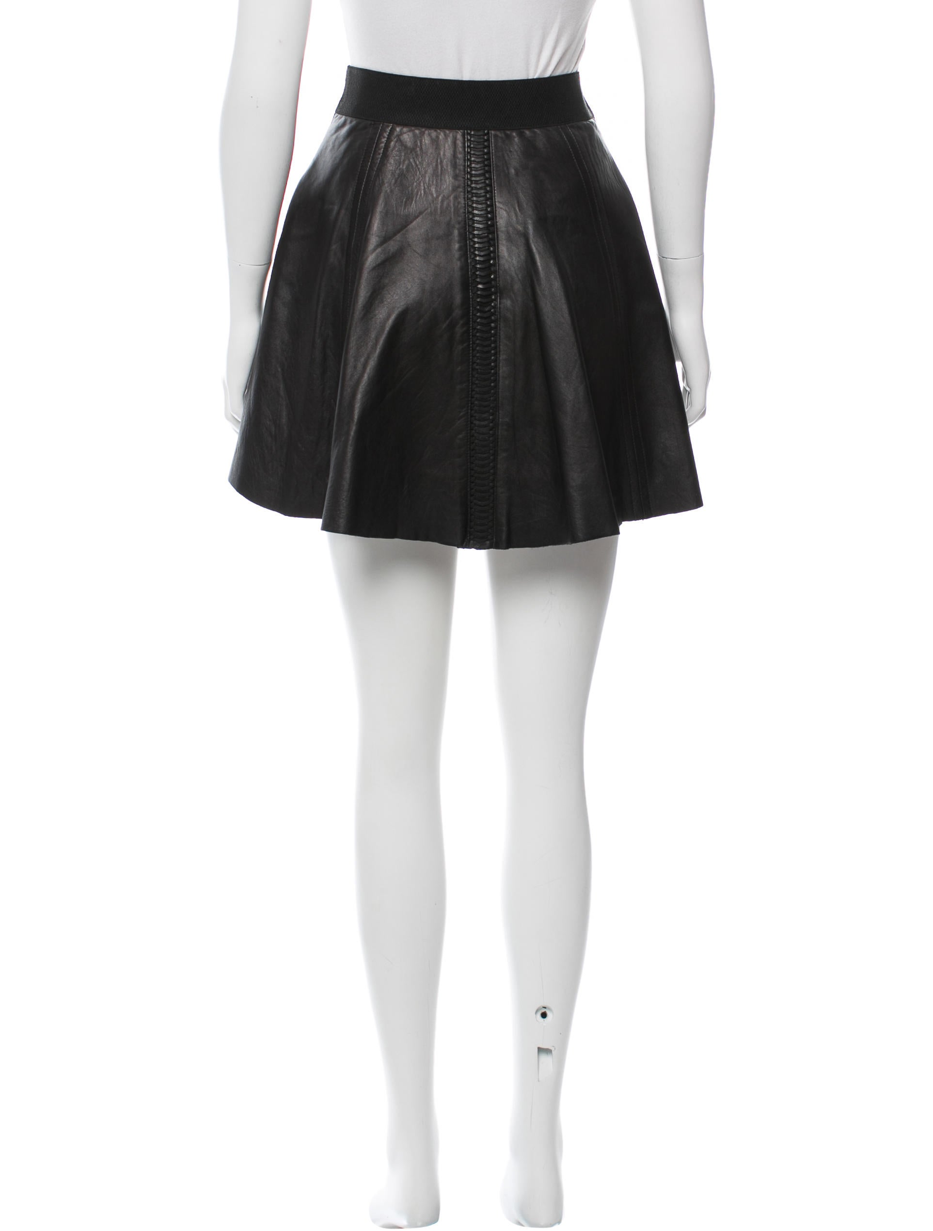 rag bone leather a line skirt clothing wragb63959