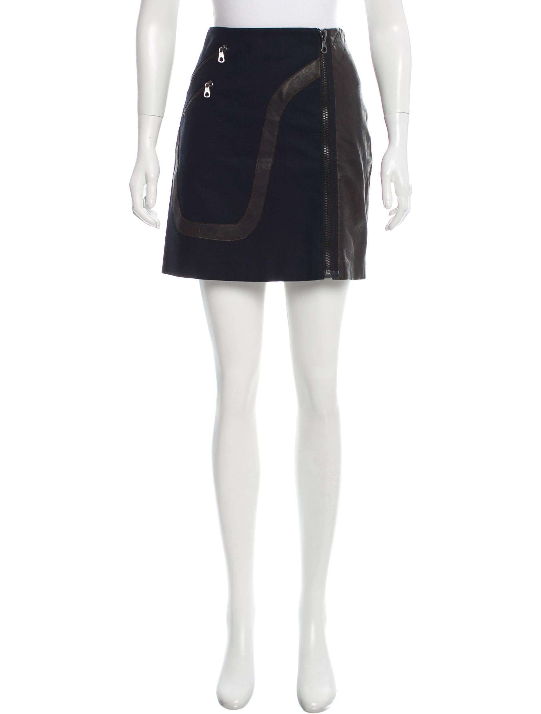rag bone leather accented mini skirt clothing