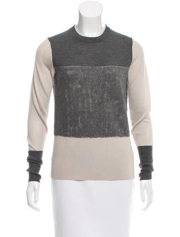 Rag & Bone Colorblock Texture-Accented Top None