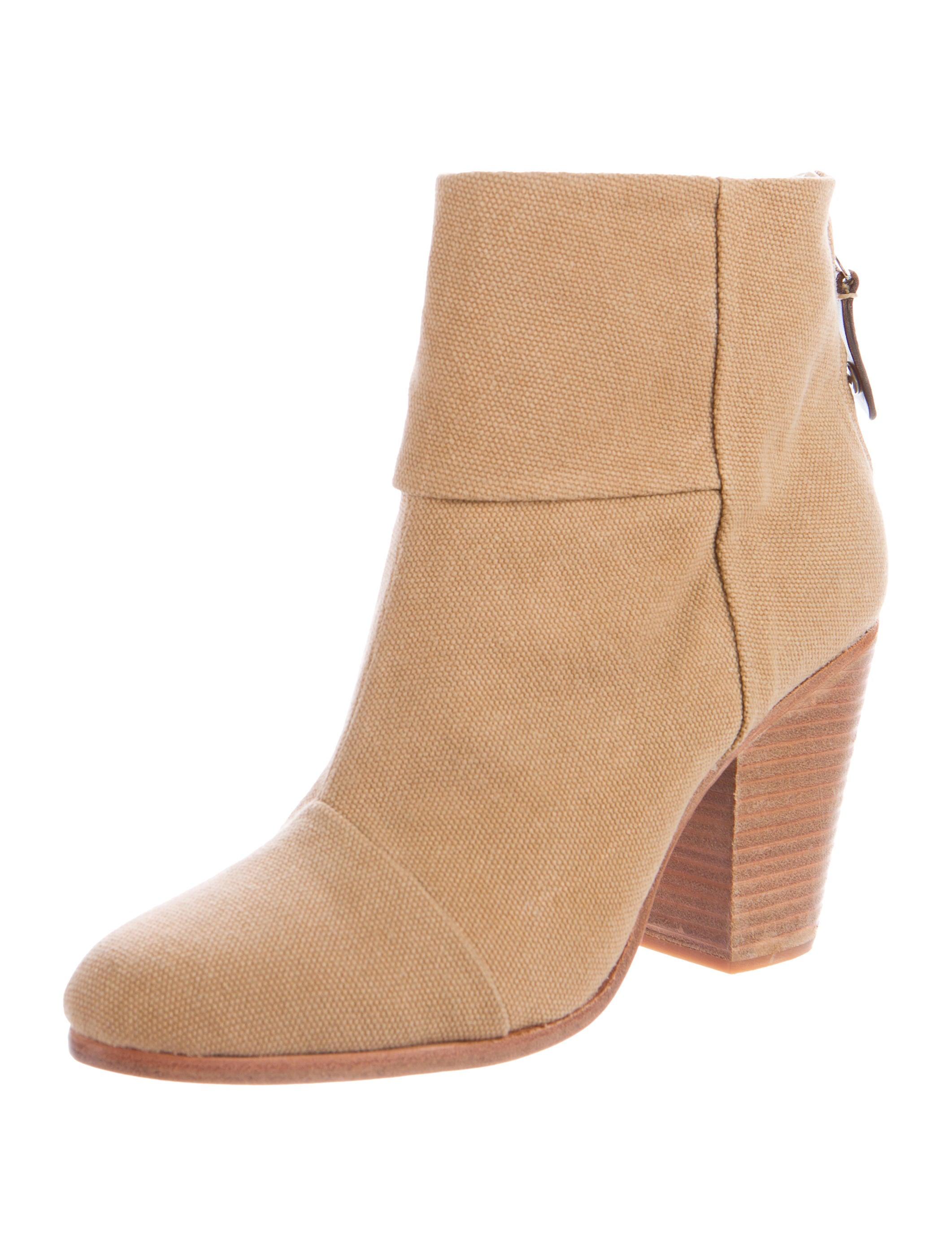 rag bone newbury canvas ankle boots shoes wragb64471