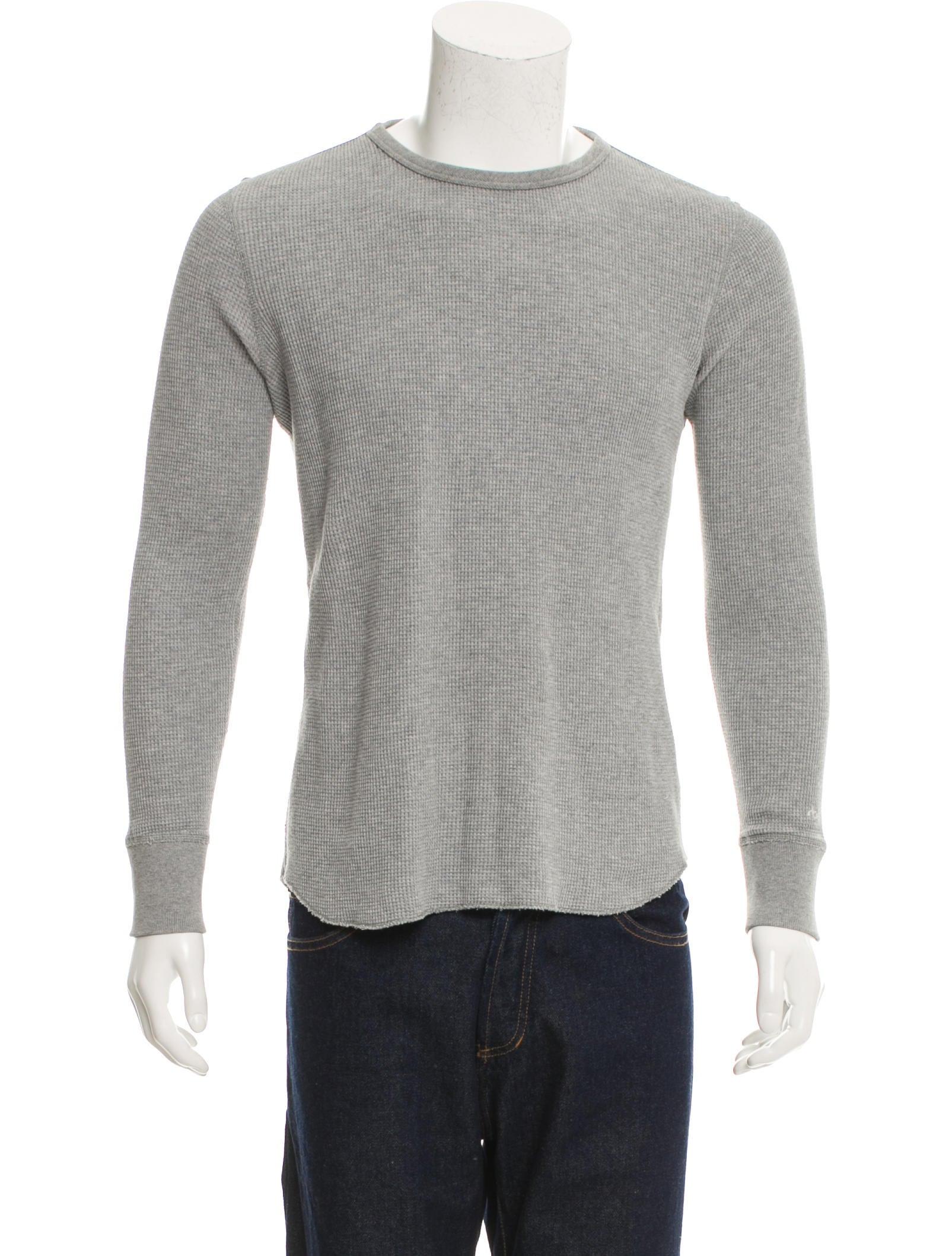 rag bone waffle knit thermal shirt clothing