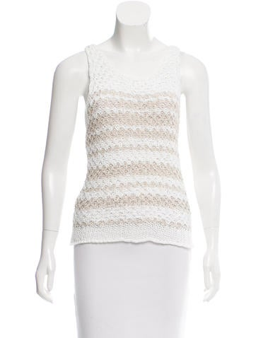 Rag & Bone Patterned Open Knit Top None