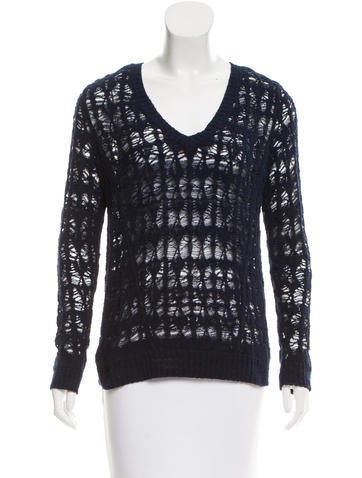 Rag & Bone Open Knit Rib Knit Sweater None