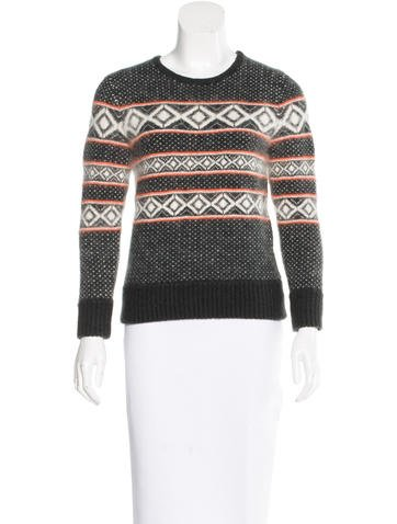 Rag & Bone Wool-Blend Patterned Sweater None