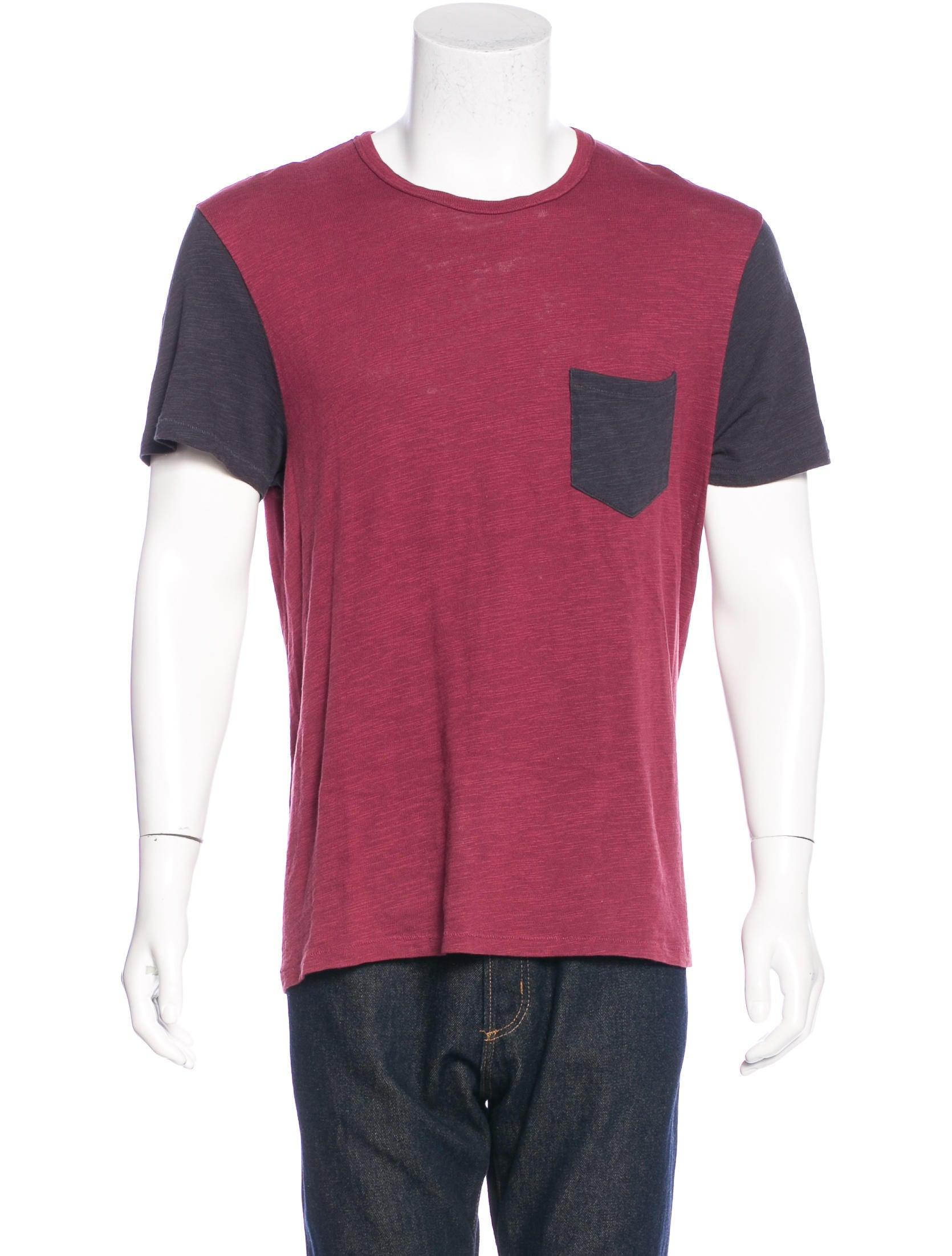 Rag Bone Contrast Pocketed T Shirt Clothing