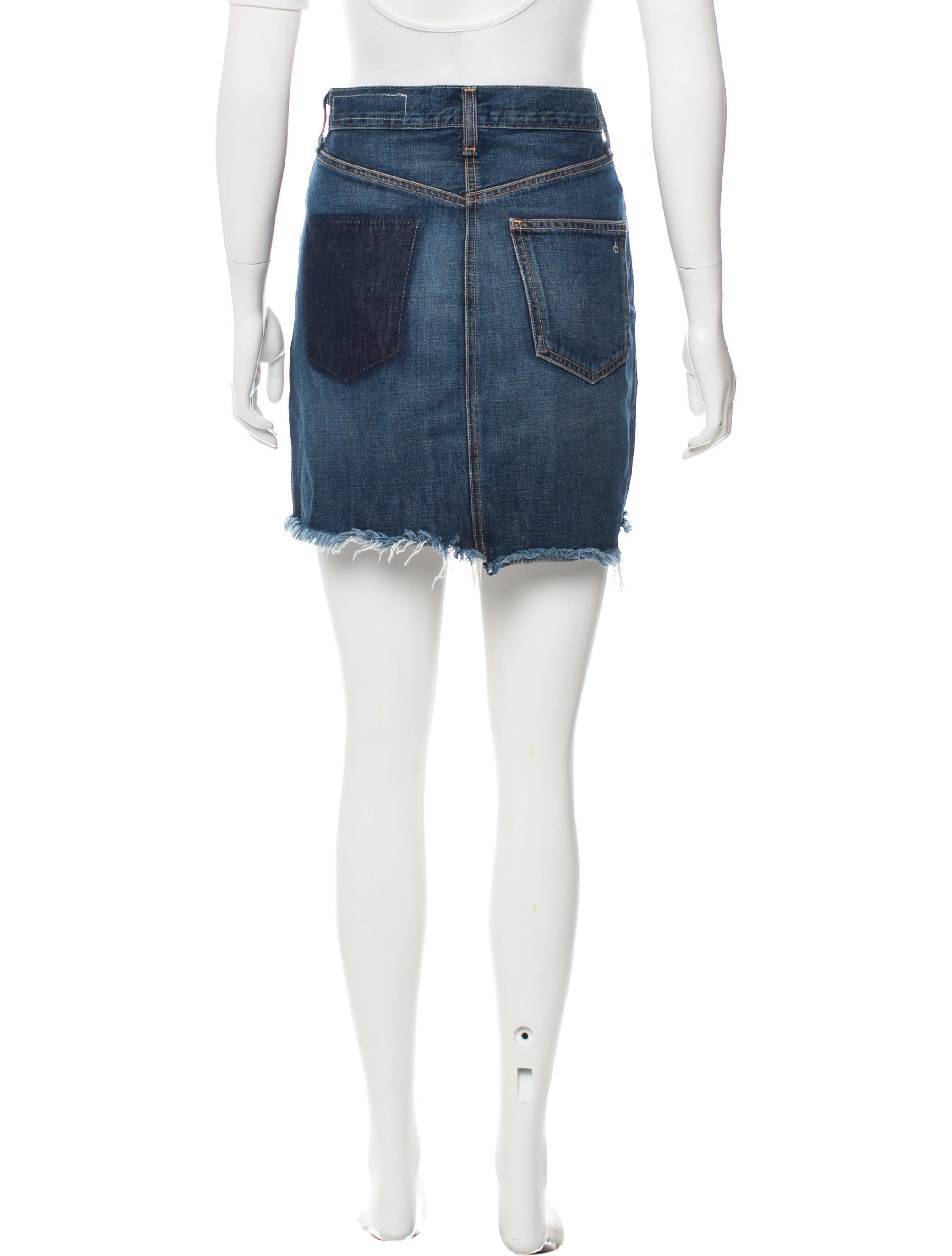 rag bone distressed denim skirt clothing wragb65436