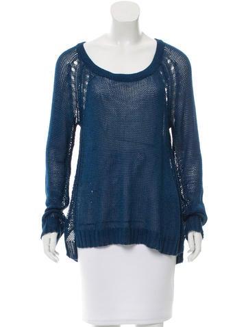 Rag & Bone Open Knit Rib Knit Sweater None