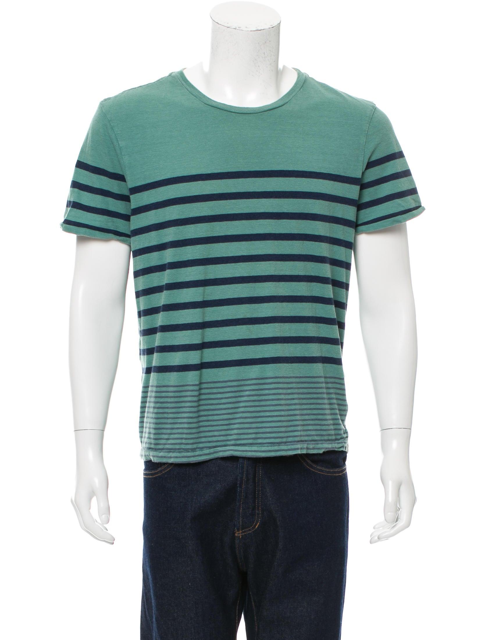 Rag Bone Striped Scoop Neck T Shirt Clothing
