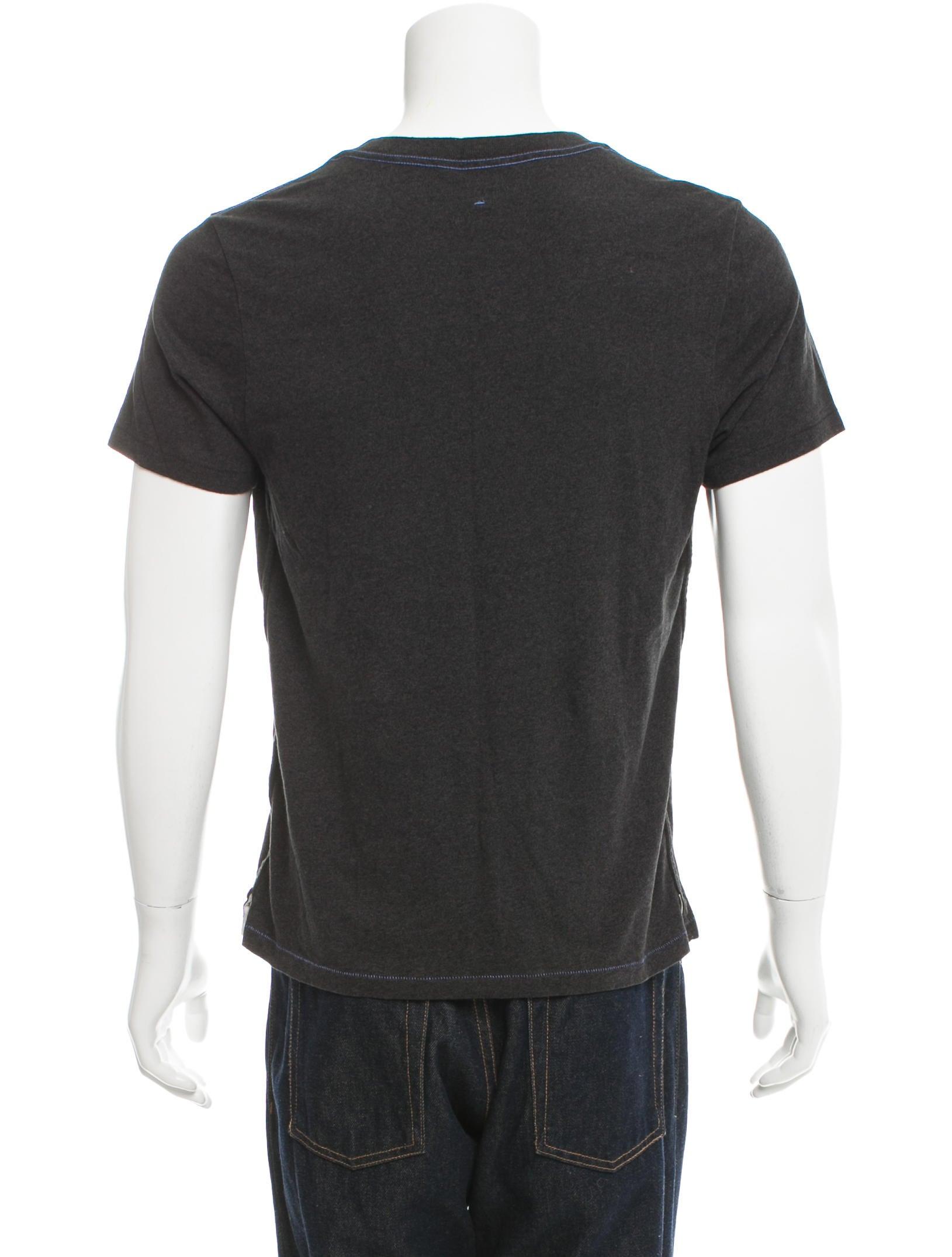 Rag Bone Woven Crew Neck T Shirt Clothing Wragb65871