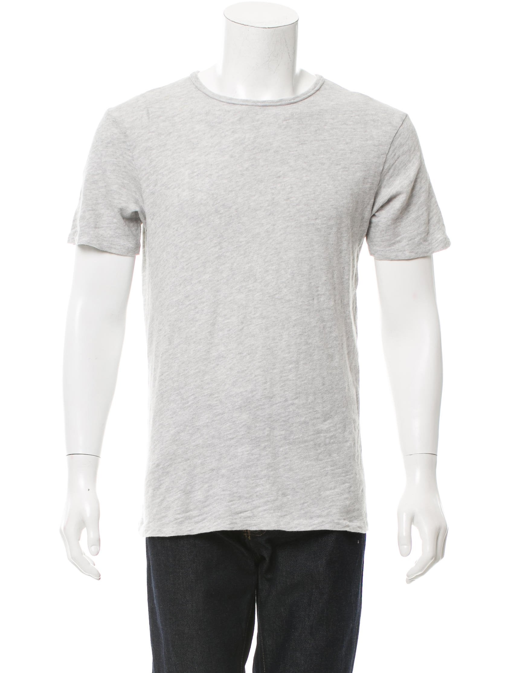 Rag Bone Short Sleeve Bateau Neck T Shirt Clothing