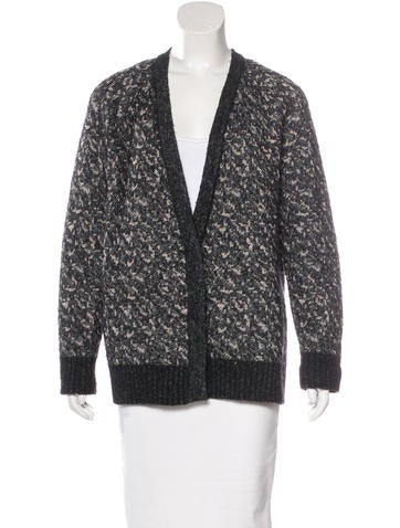 Rag & Bone Patterned Open-Front Cardigan None
