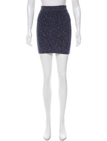 Rag & Bone Melange Knit Skirt None