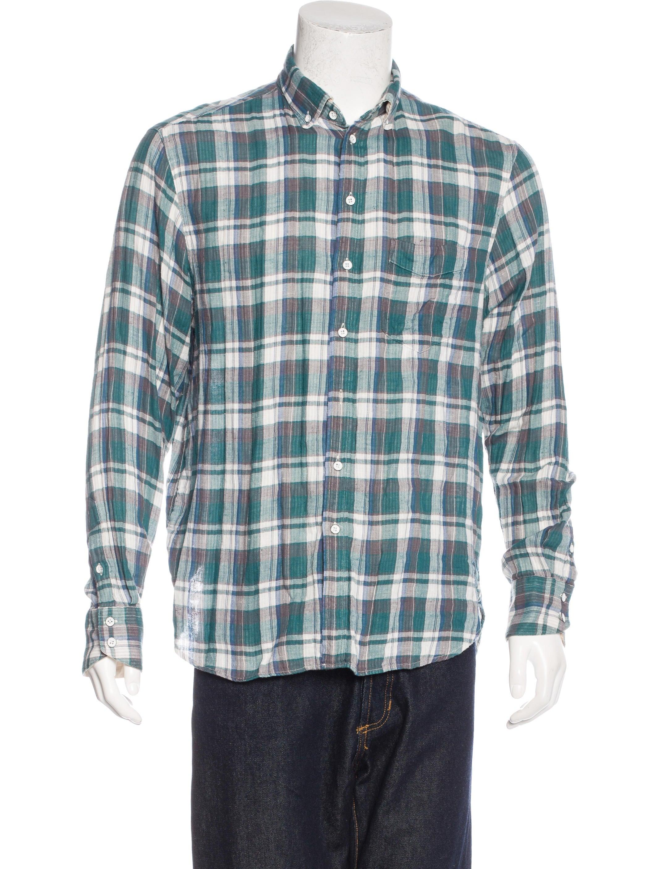 Rag Bone Plaid Woven Shirt Clothing Wragb67965 The