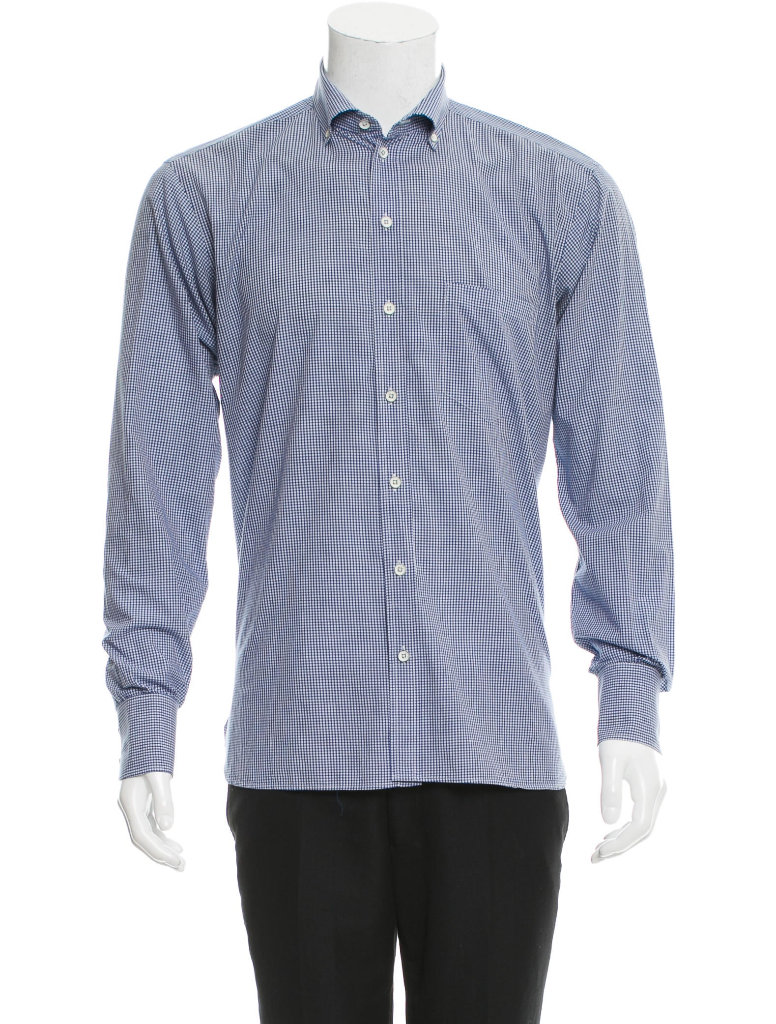 Rag Bone Checkered Print Button Up Shirt Clothing