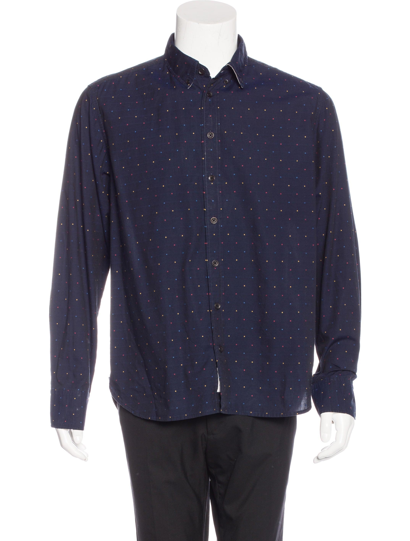 Rag Bone Dot Print Woven Shirt Clothing Wragb68059