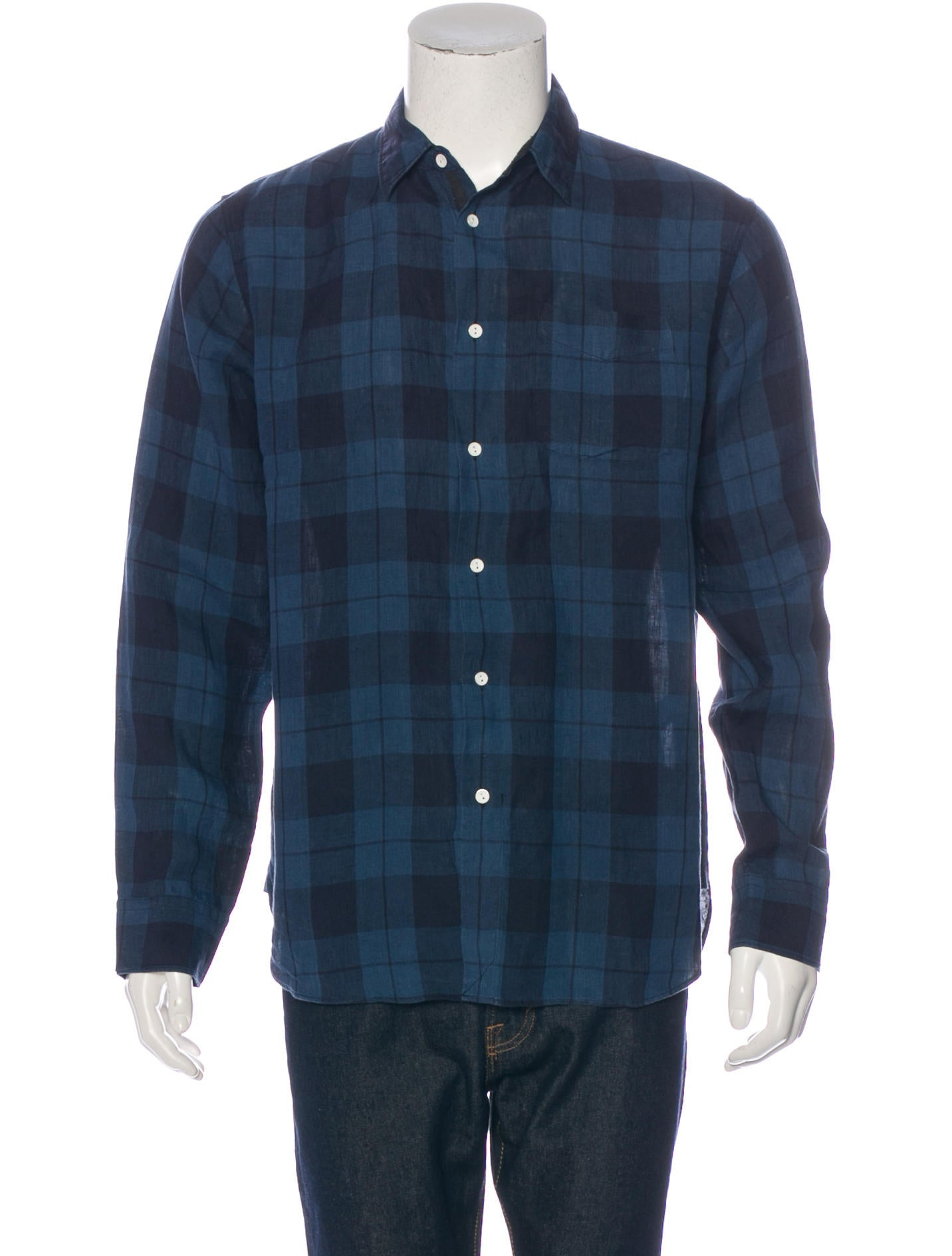 Rag Bone Plaid Linen Shirt Clothing Wragb68112 The