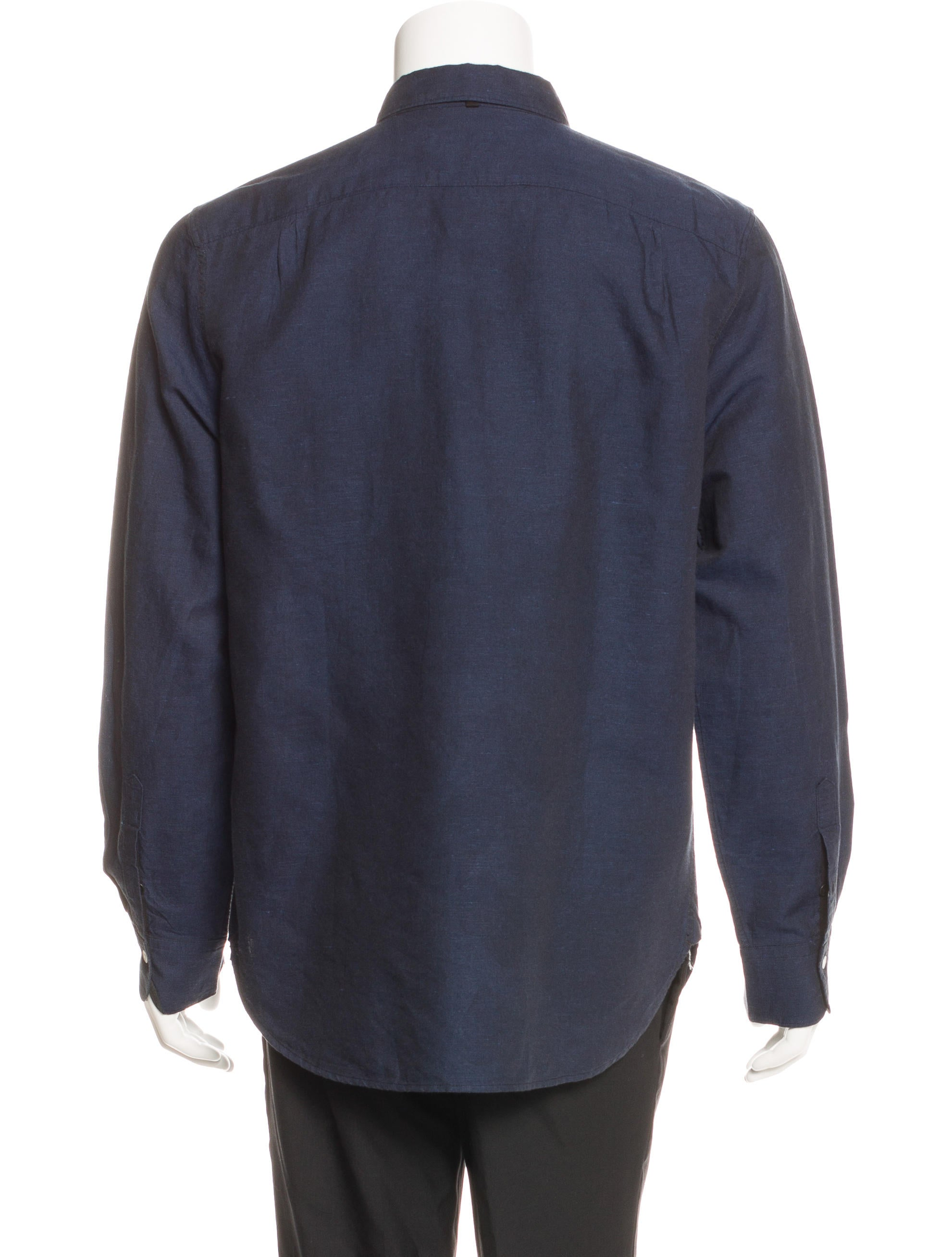 Rag Bone Classic Fit Linen Blend Shirt Clothing