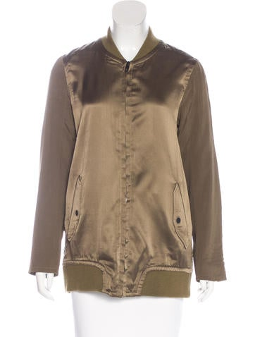 Rag & Bone Paneled Silk Jacket None