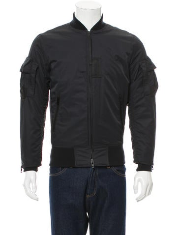 Rag & Bone Rib Knit-Trimmed Bomber Jacket None