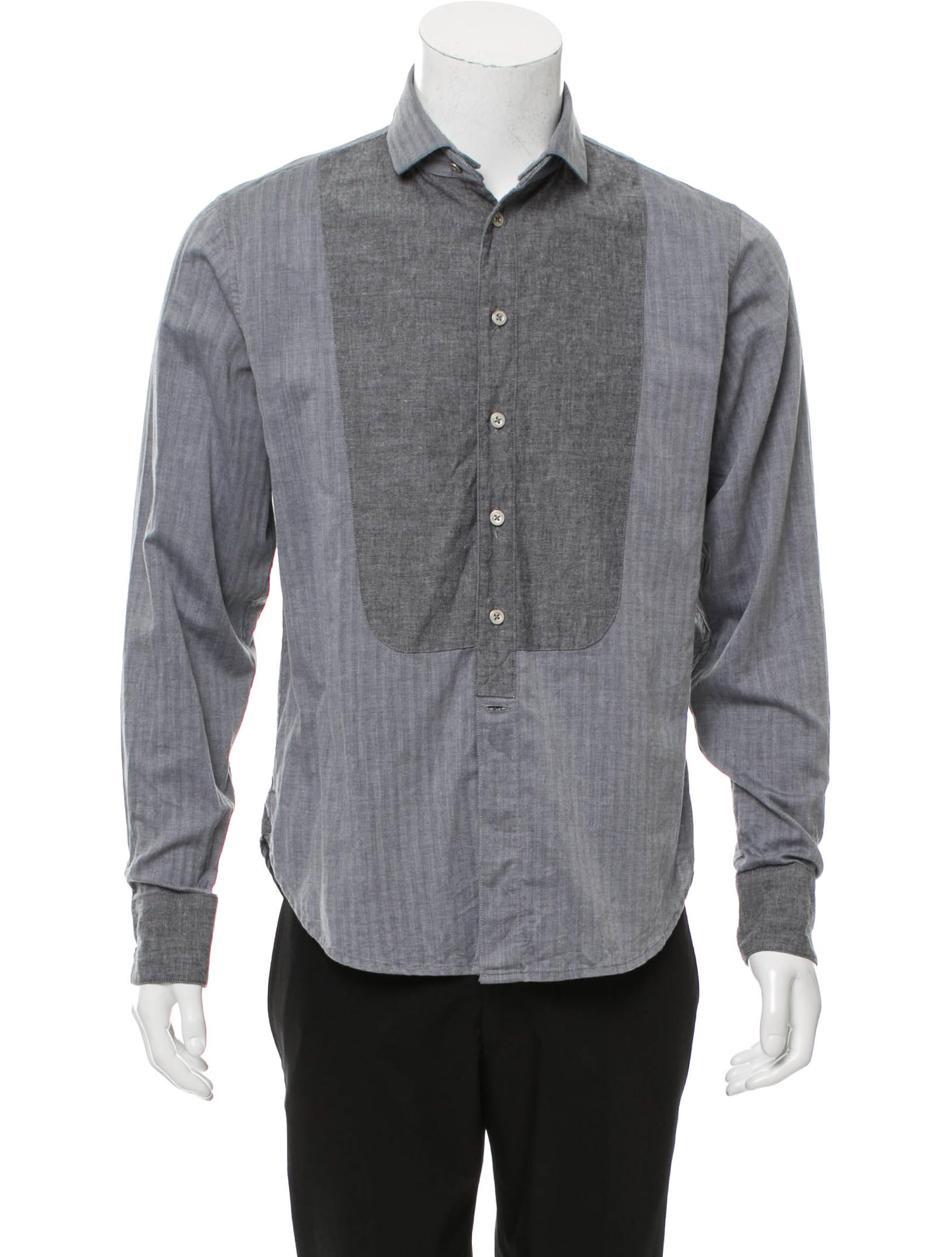 Rag bone tuxedo button up shirt clothing wragb69048 for Rag and bone mens shirts sale