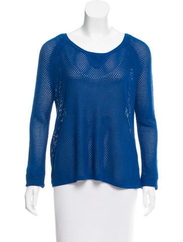 Rag & Bone Open-Knit Long Sleeve Sweater None