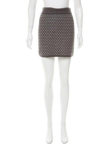 Rag & Bone Textured Knit Skirt None