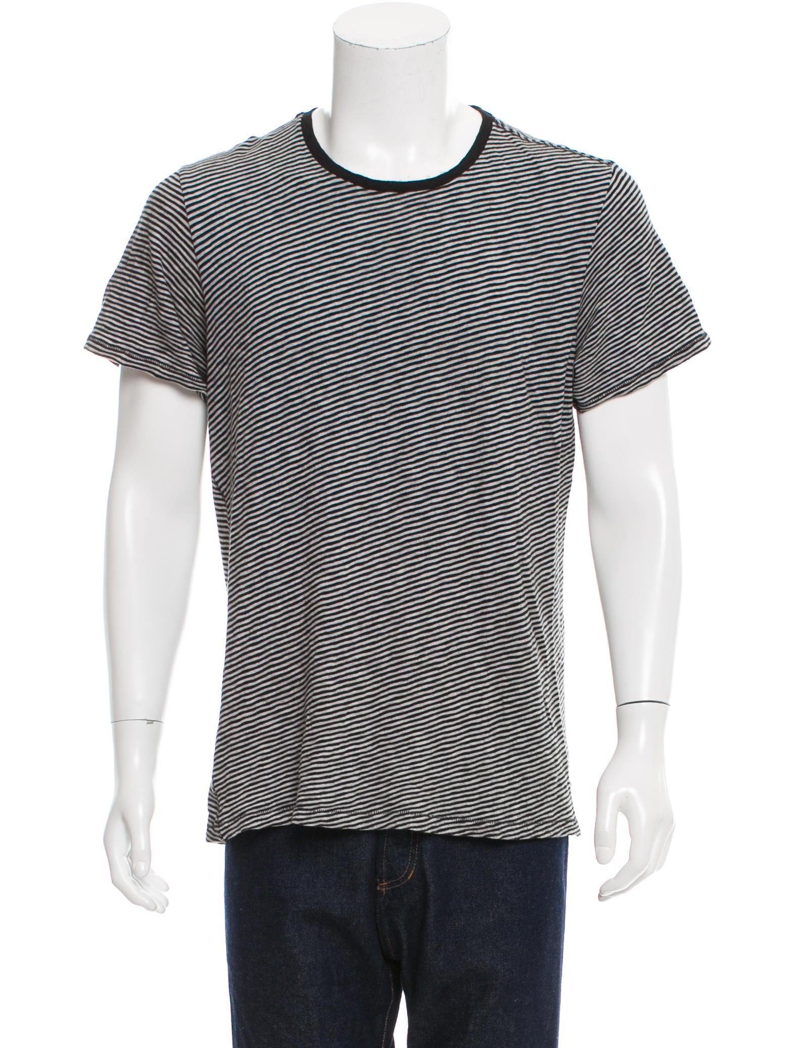 Rag Bone Striped Short Sleeve T Shirt Clothing