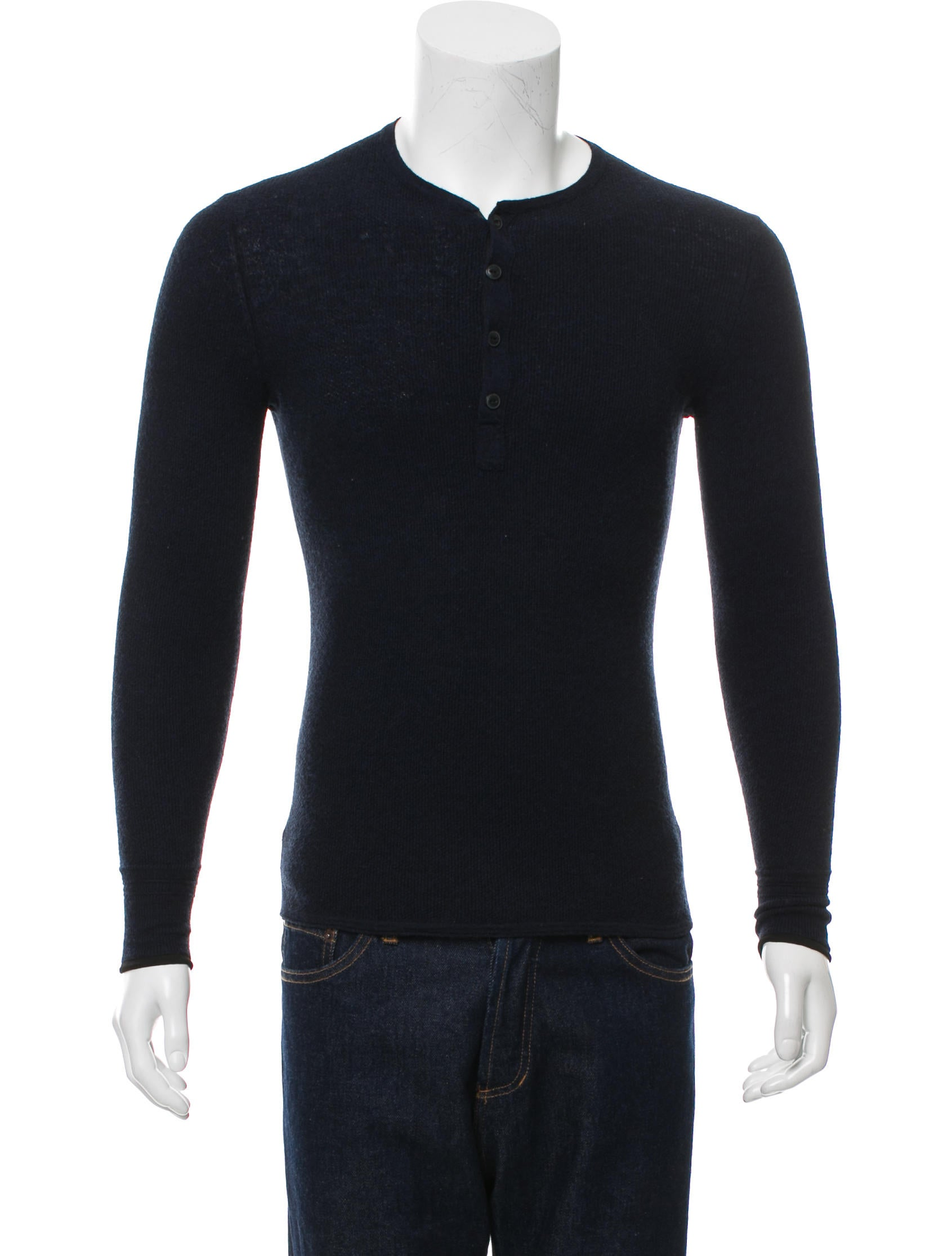 Rag Bone Wool Henley Shirt Clothing Wragb69515 The