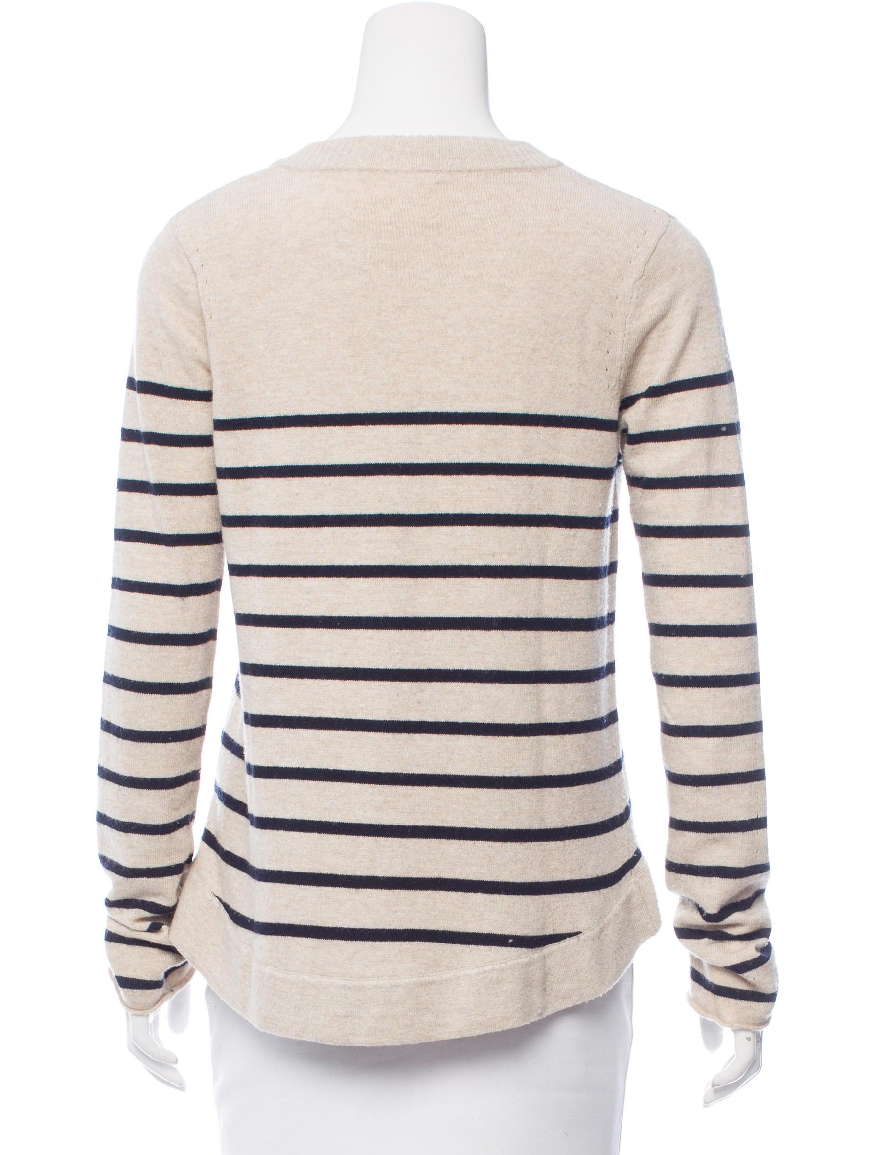 Rag & Bone Stripe Pattern Knit Sweater - Clothing ...