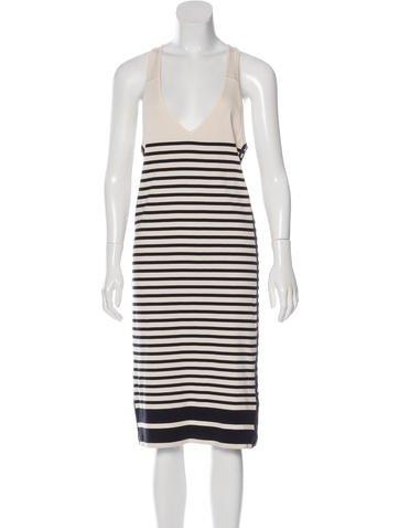 Rag & Bone Stripe Print Knit Dress None