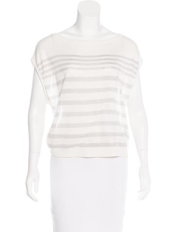 Rag & Bone Striped Knit Top None