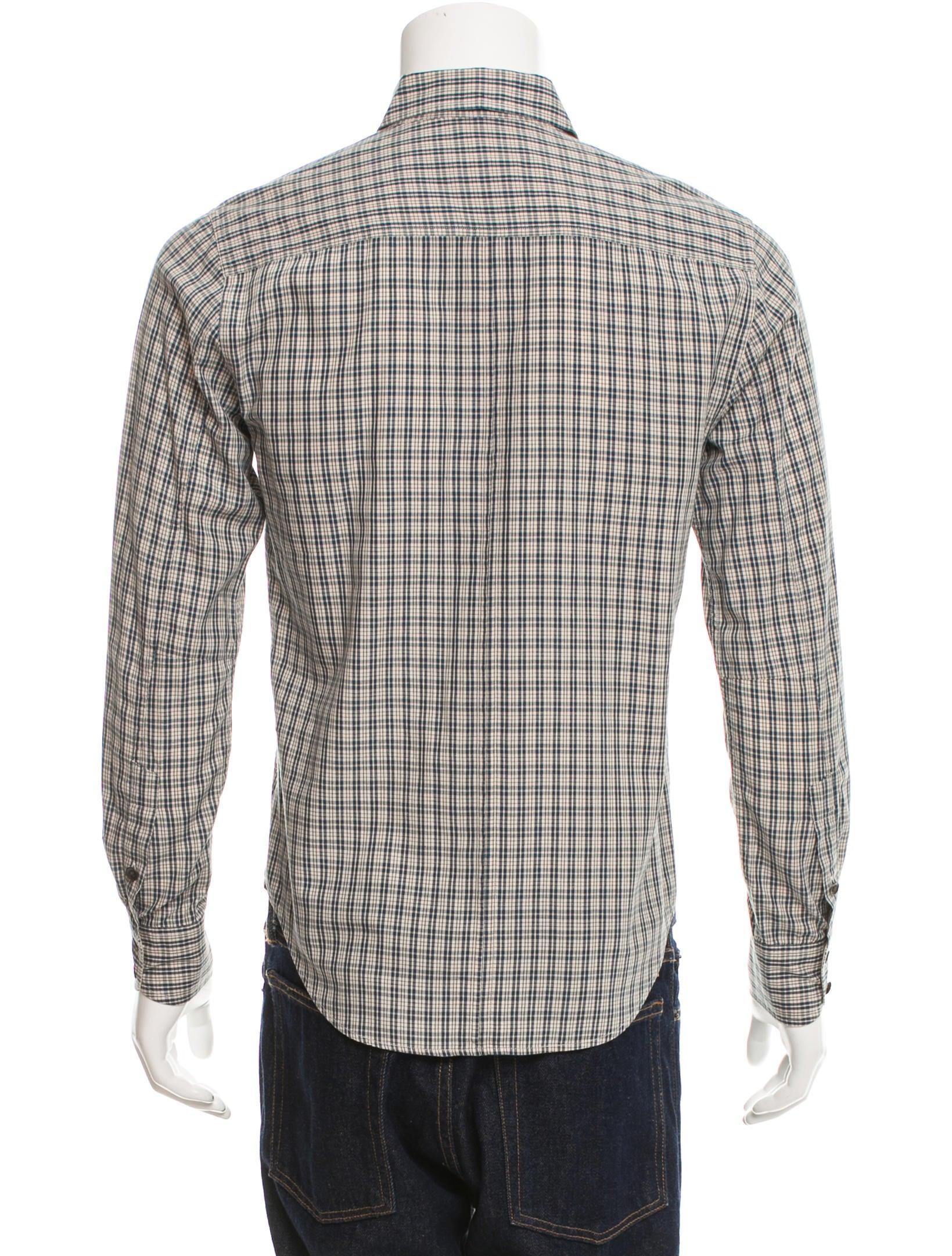 Rag Bone Plaid Button Up Shirt Clothing Wragb70386