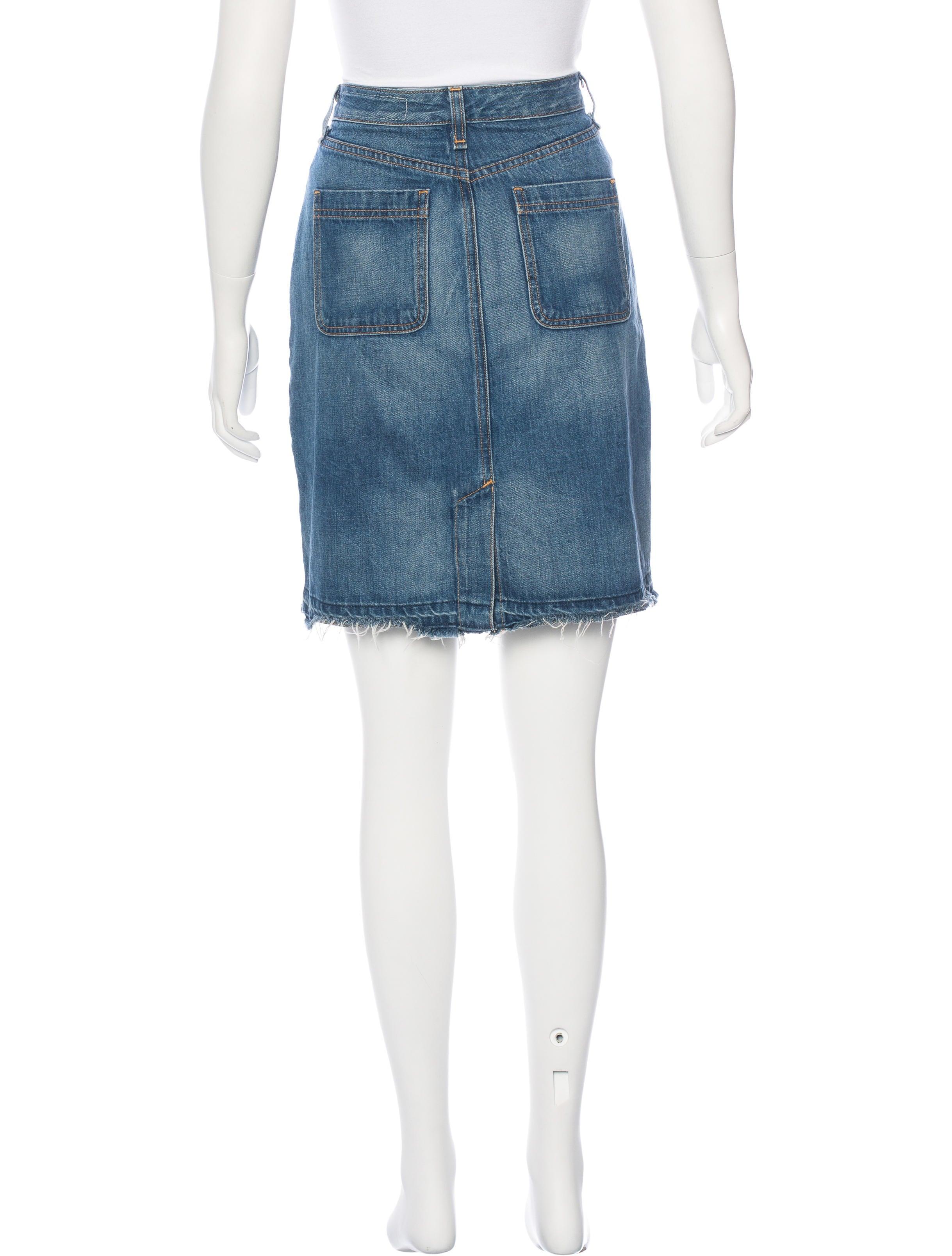 rag bone knee length jean skirt clothing wragb70662
