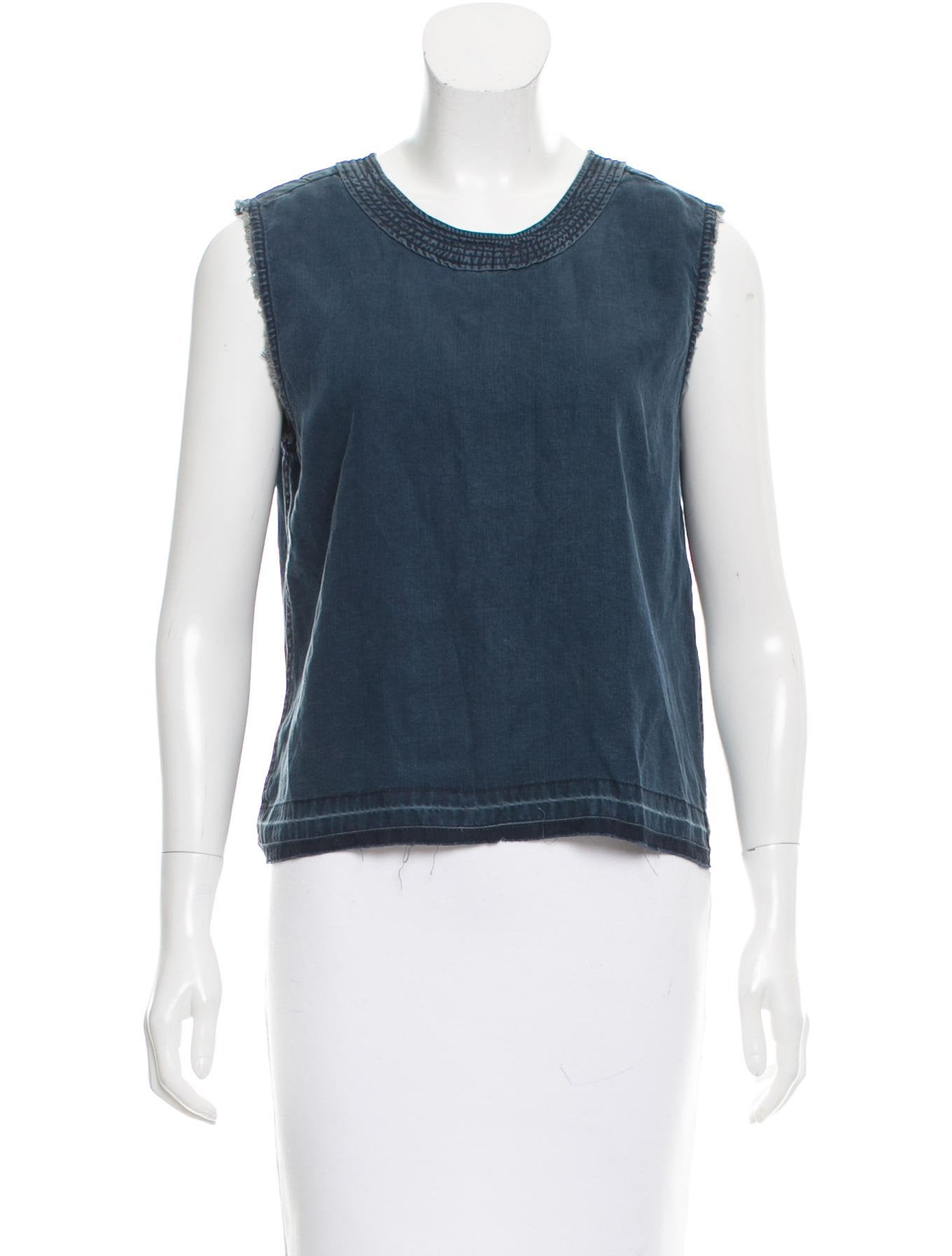 Rag bone sleeveless chambray top w tags clothing for Chambray top