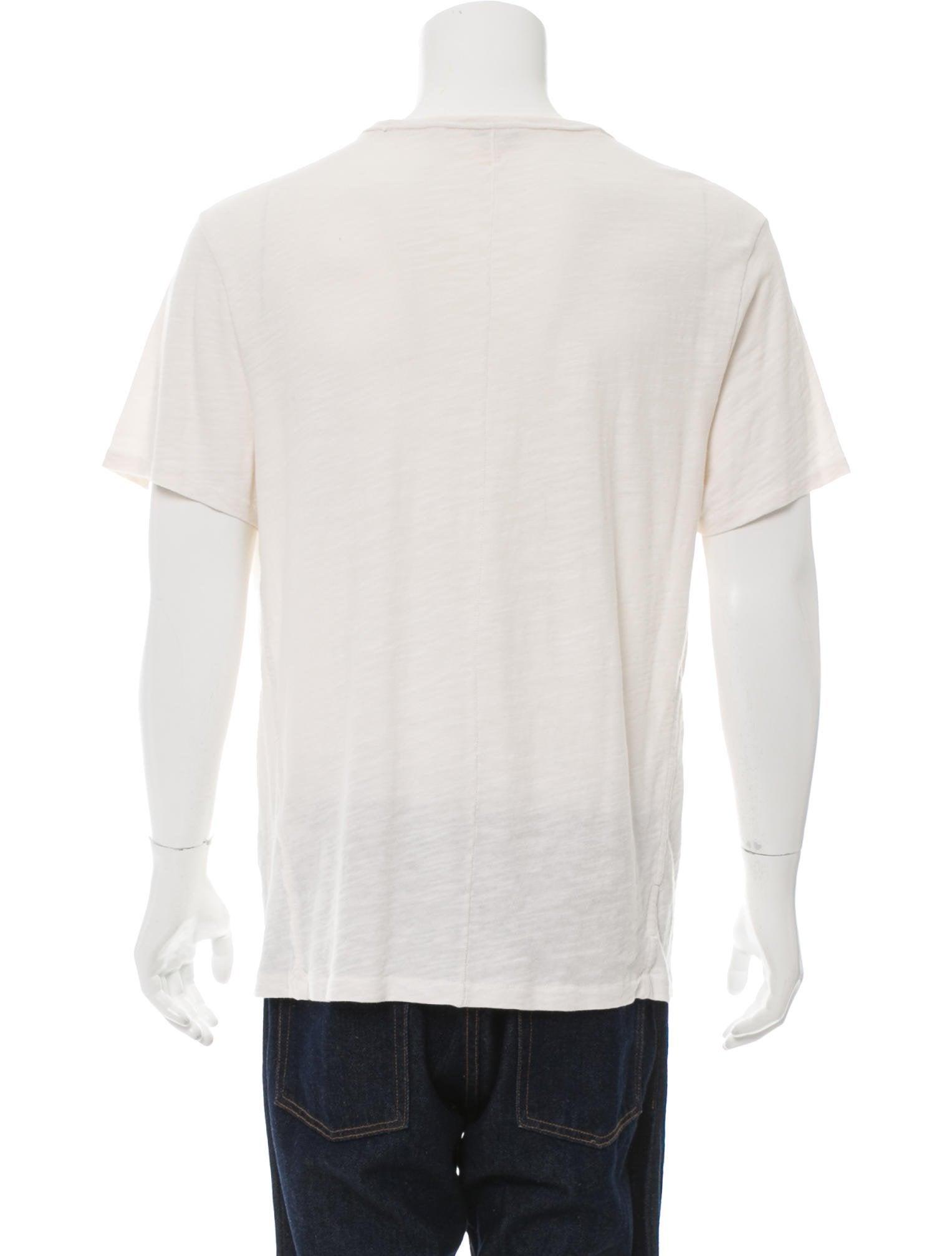 Rag Bone Graphic Crew Neck T Shirt Clothing