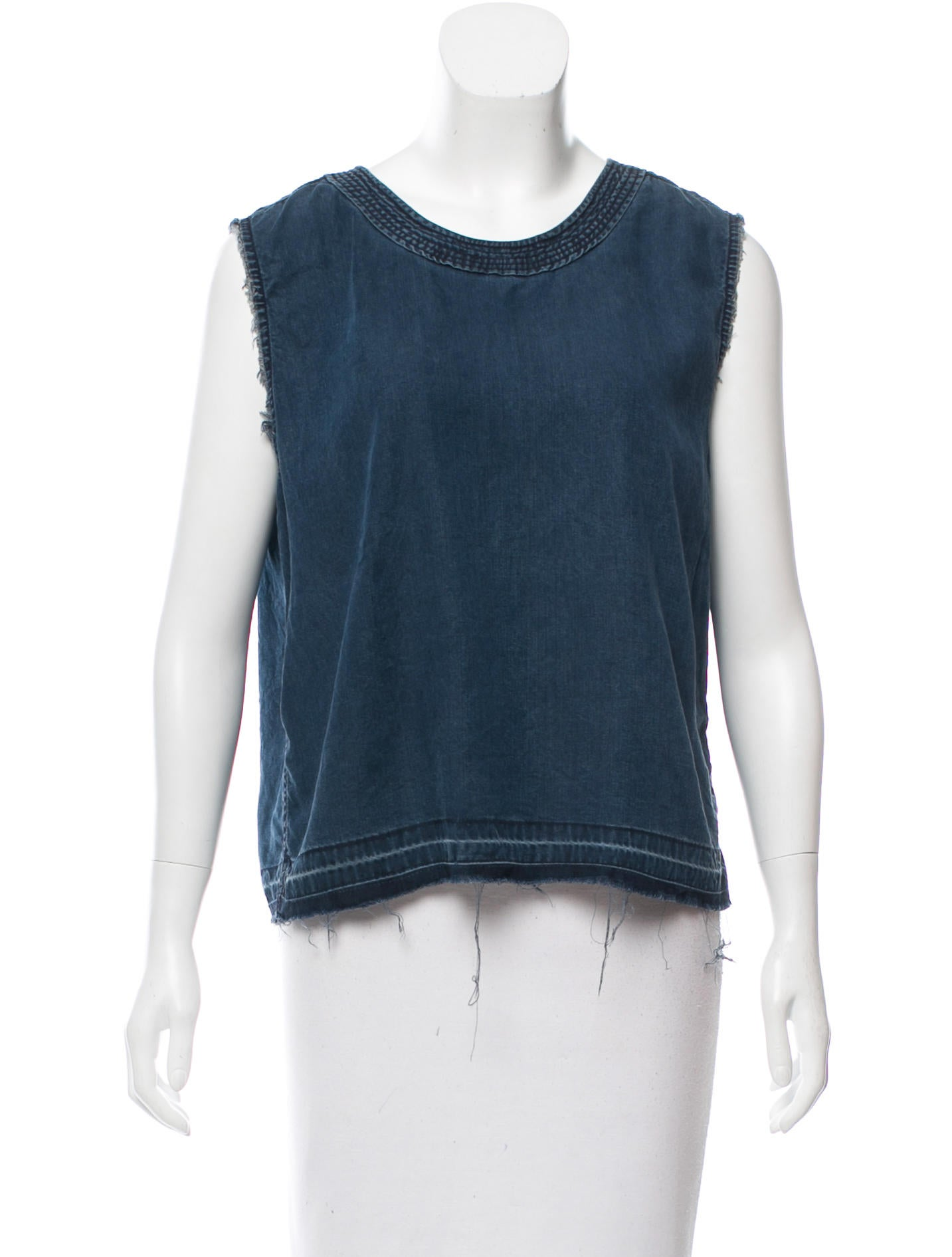 Rag bone sleeveless chambray top clothing wragb71709 for Chambray top