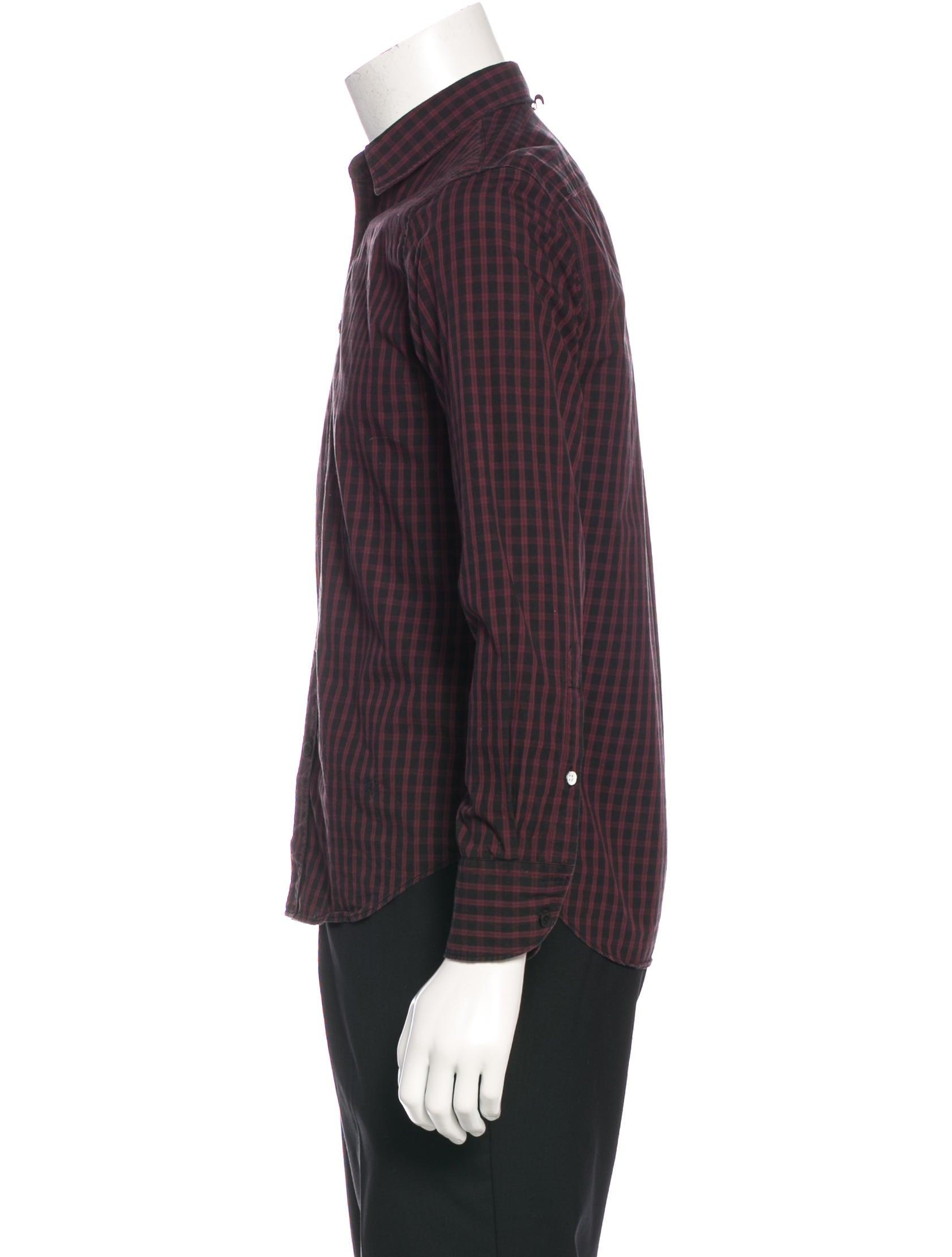 Rag bone plaid slim fit shirt clothing wragb72389 for Rag and bone mens shirts sale