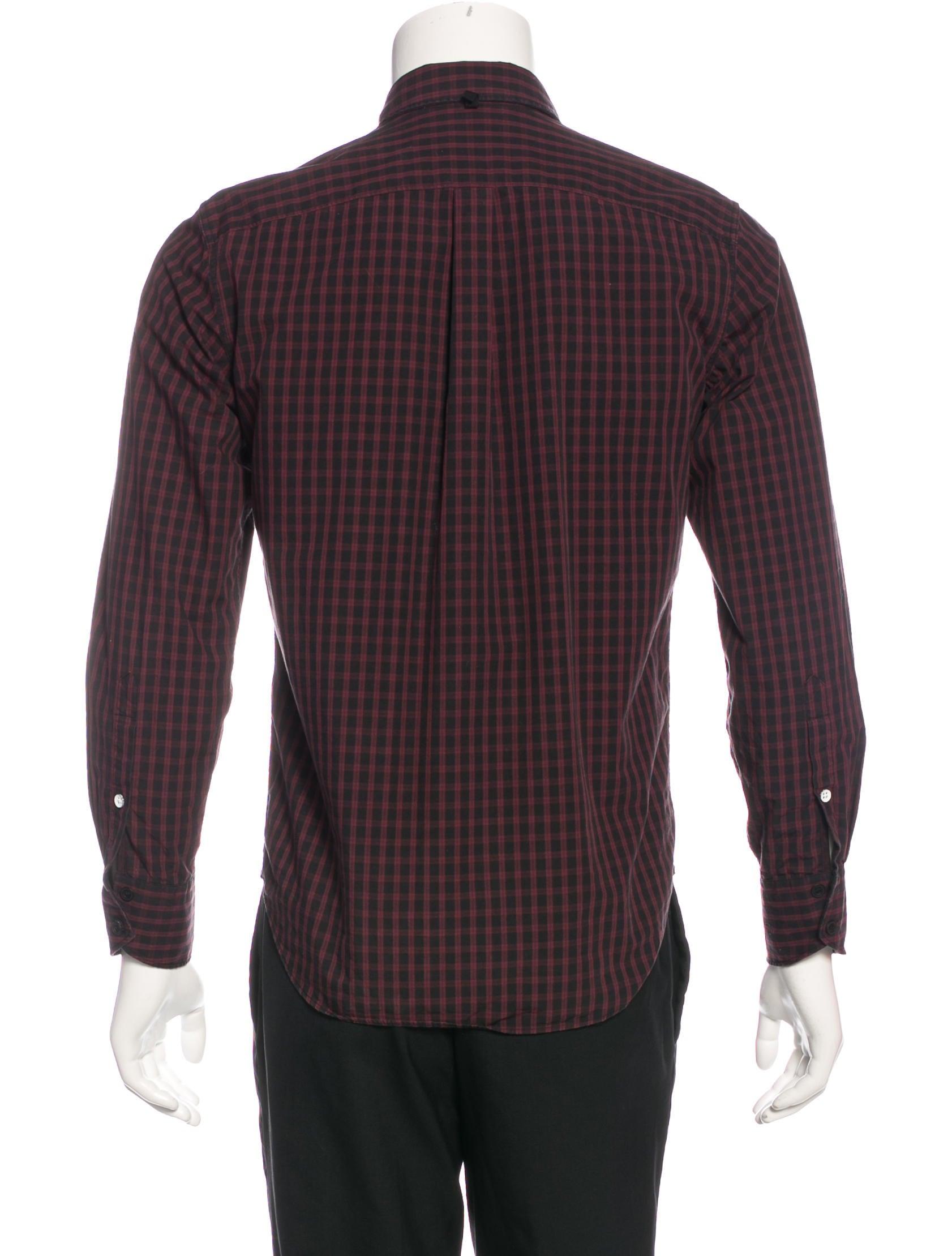 Rag Bone Plaid Slim Fit Shirt Clothing Wragb72389
