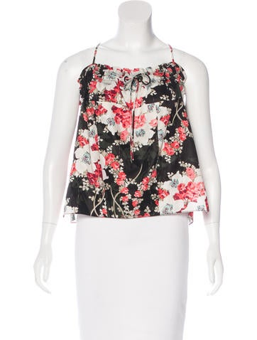 Rag & Bone Sleeveless Floral Printed Top None