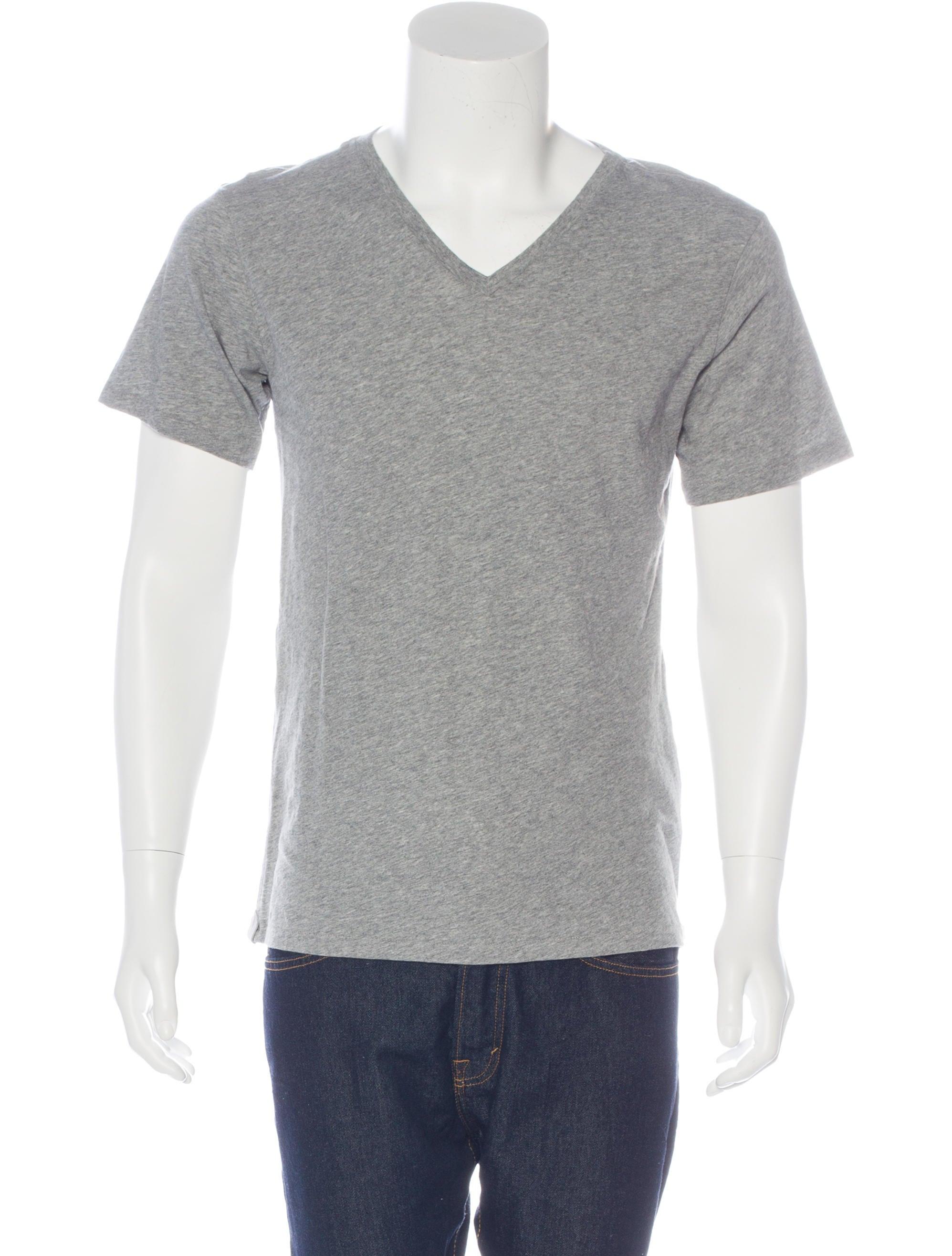 Rag Bone Heathered V Neck T Shirt Clothing