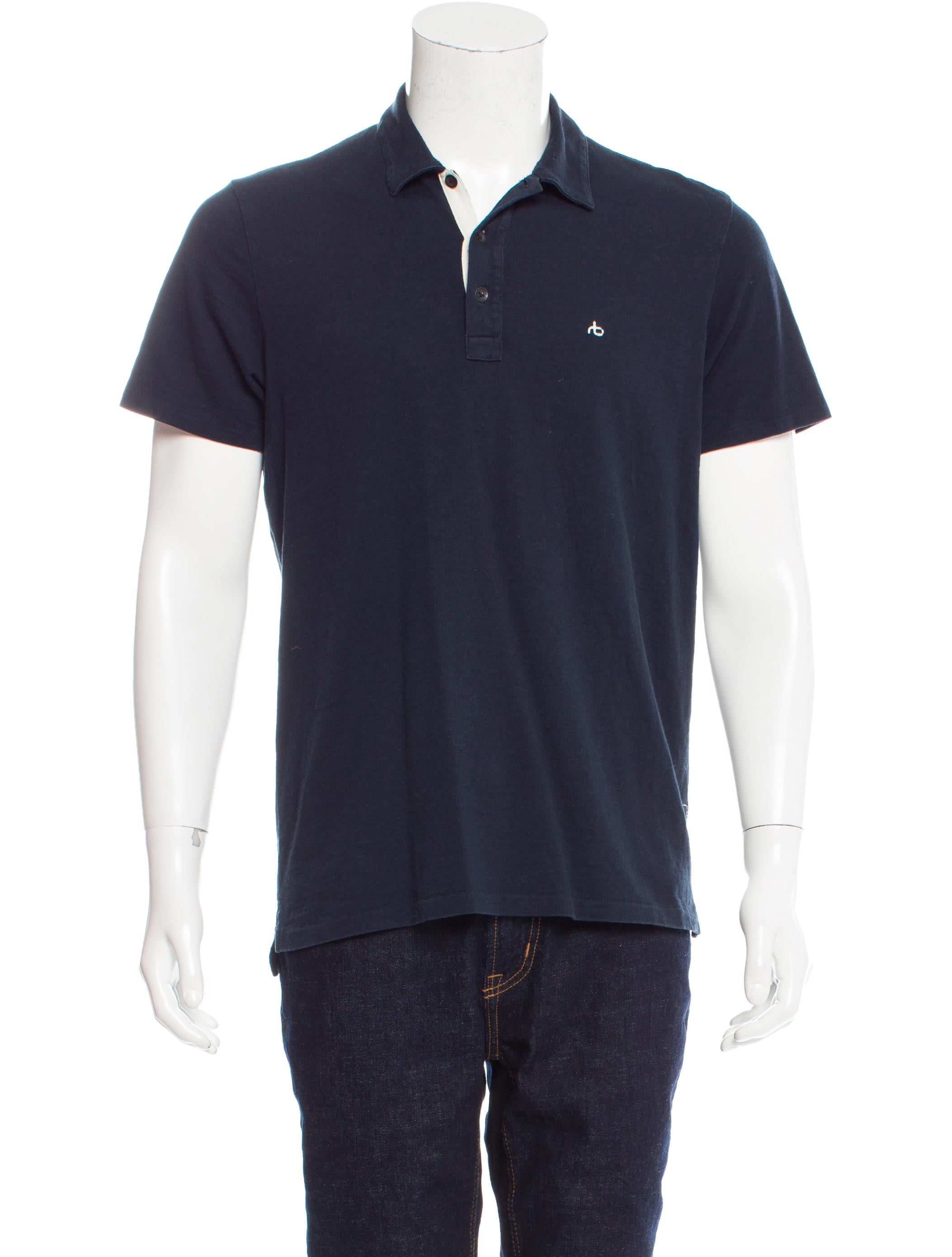 Rag Bone Logo Embroidered Polo Shirt Clothing