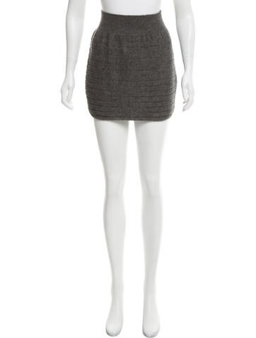 Rag & Bone Silk-Alpaca Blend Knit Skirt None
