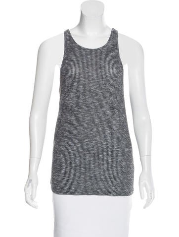 Rag & Bone Rib Knit Sleeveless Top None