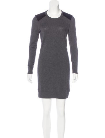 Rag & Bone Suede-Accented Wool Dress None