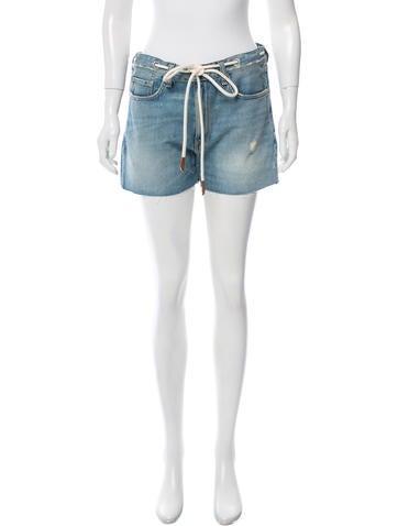 Rag & Bone Mid-Rise Denim Shorts None