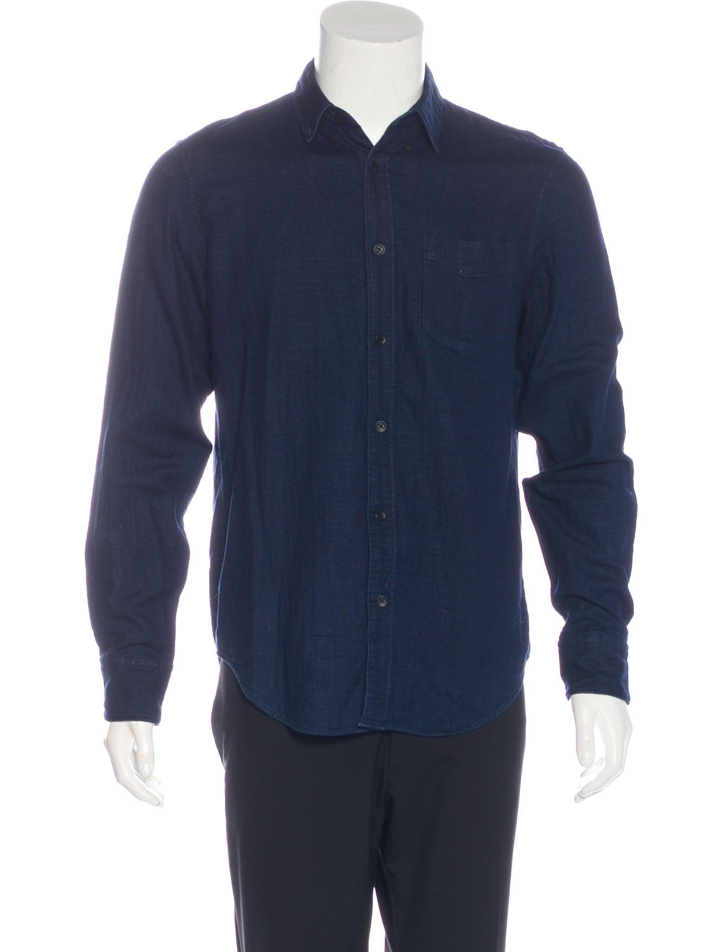 Rag Bone Slim Fit Chambray Shirt Clothing Wragb74769