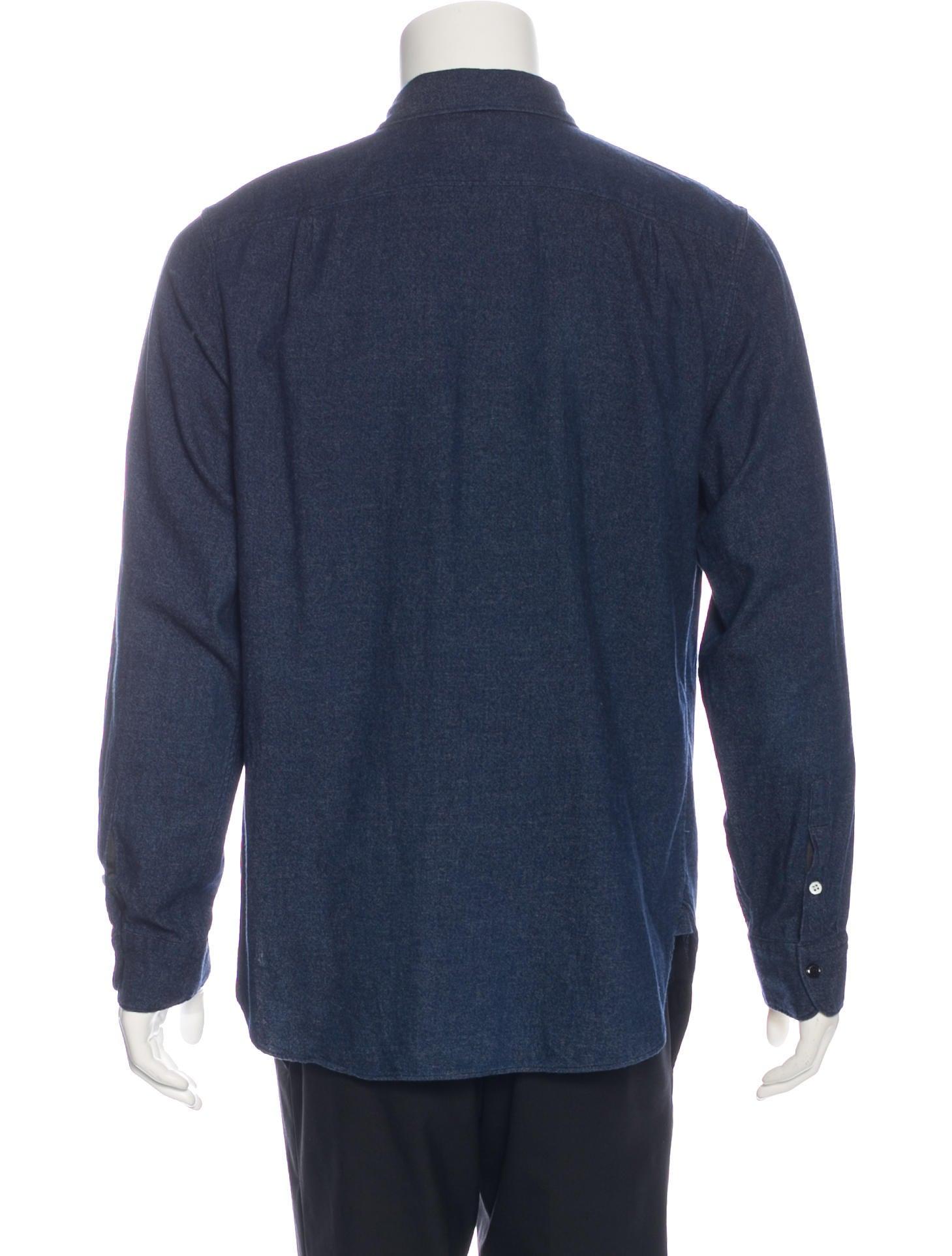 Rag bone classic fit chambray shirt clothing for Rag and bone mens shirts sale