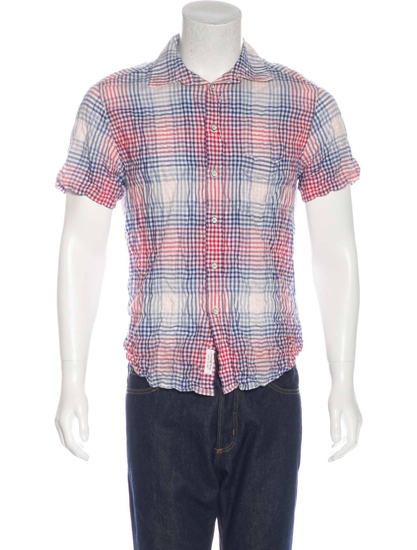 Rag bone plaid short sleeve shirt clothing for Rag and bone mens shirts sale