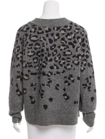 Leopard Knitting Pattern : Rag & Bone Leopard Pattern Knit Sweater - Clothing - WRAGB74896 The Rea...